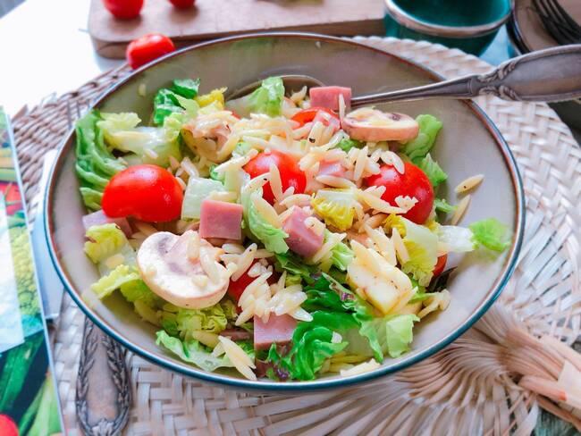 Recette Salade de risones au jambon et au cantal