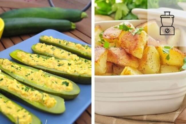Recette Courgettes mimosa - Pommes de terre  au four