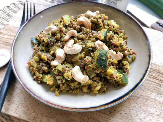 Recette Mijoté de quinoa et lentilles à l'indienne