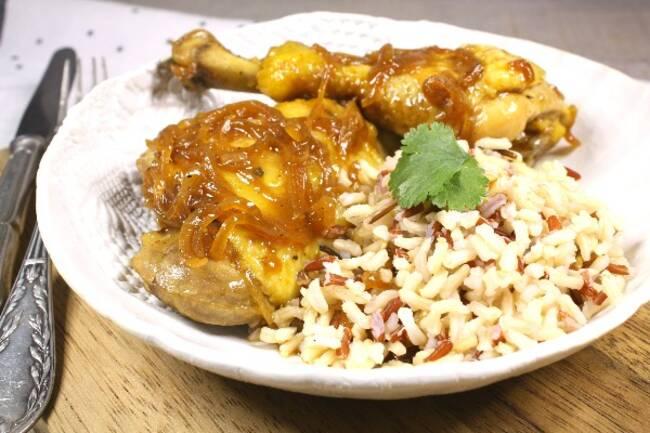 Recette Cuisses de poulet adobo, sauce aigre-douce