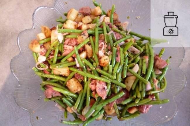 Recette Salade tiède pommes de terre haricots verts