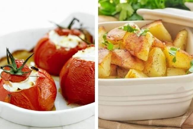 Recette Tomates farcies au chèvre - Pommes de terre