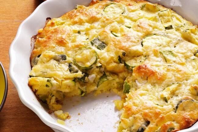 Recette Quiche sans pâte aux légumes et  à la feta