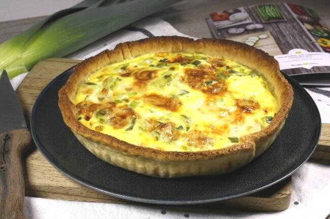 Recette Tarte aux poireaux et au gorgonzola