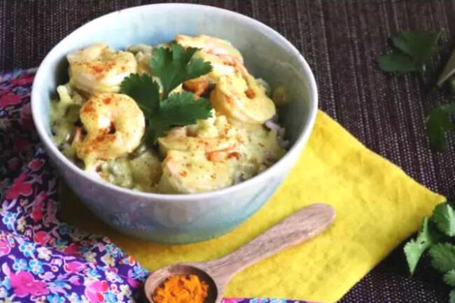Recette Crevettes sautées gingembre lait de coco