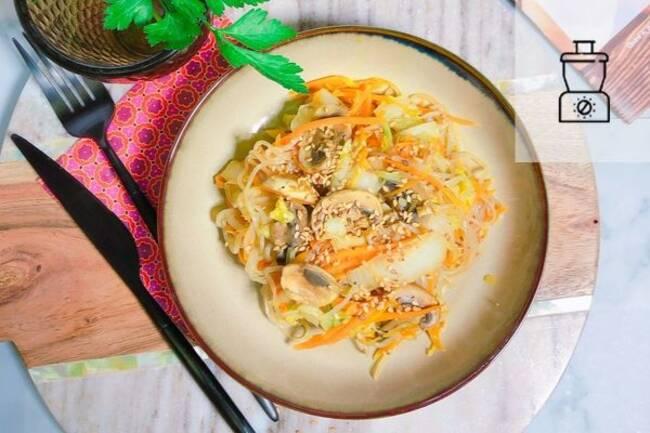 Recette Shirataki (vermicelles de konjac)  aux légume