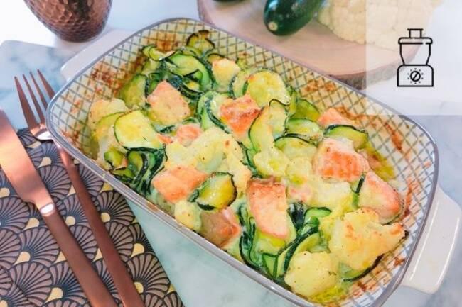 Recette Gratin de saumon  aux légumes SG