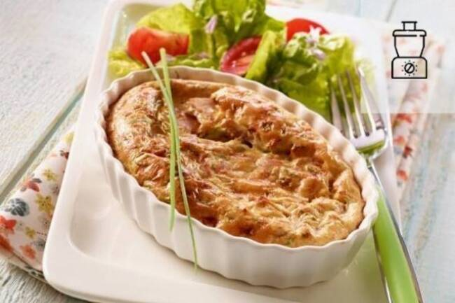 Recette Clafoutis thon et ciboulettepoireaux vinaigre