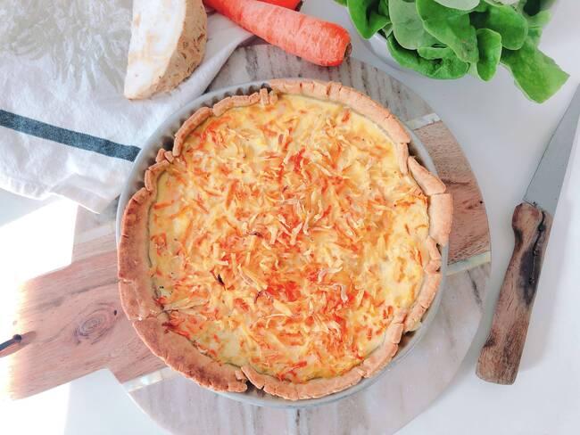 Recette Tarte aux légumes d'hiver, salade