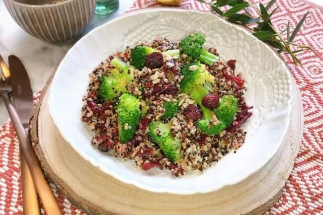 Recette Trio de quinoa aux legumes aux amandes