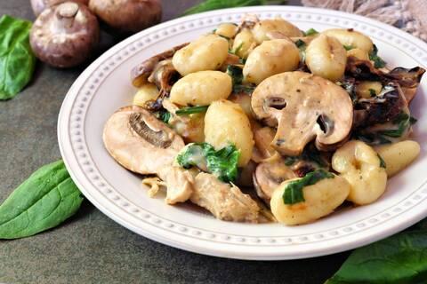 Recette de Gnocchis aux épinards et au fromage aux fines herbes