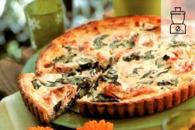 Recette Tarte gourmande epinards chevre et salade