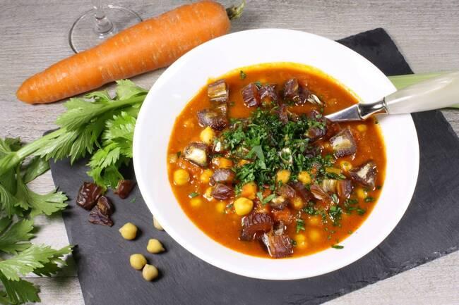 Recette Harira (soupe marocaine)  aux dattes (SG)