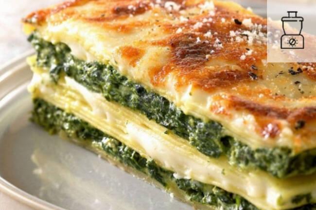 Recette Lasagnes aux épinards et au chèvre