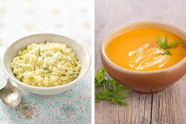 Recette Risotto aux topinambours, soupe du marché (SG