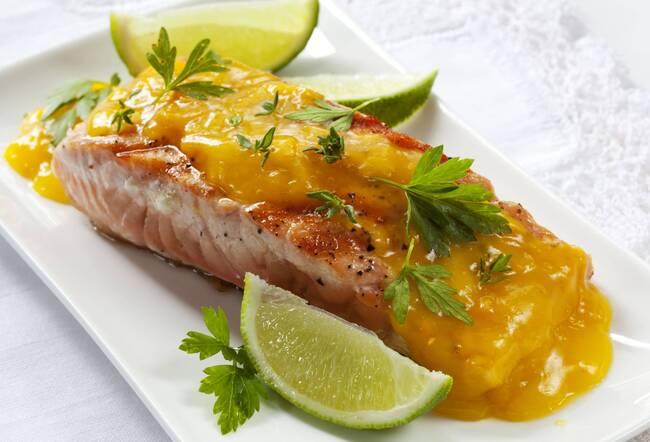 Recette Saumon sauce agrumes, riz