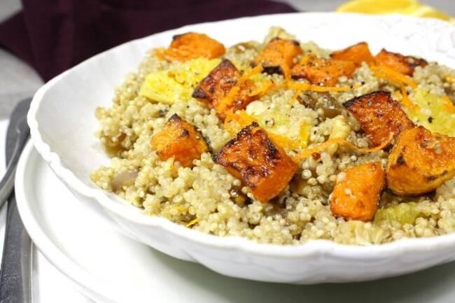 Recette Quinoa au potiron a l orange et aux dattes