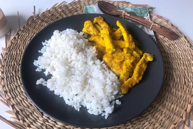 Recette Curry antillais de poulet Riz