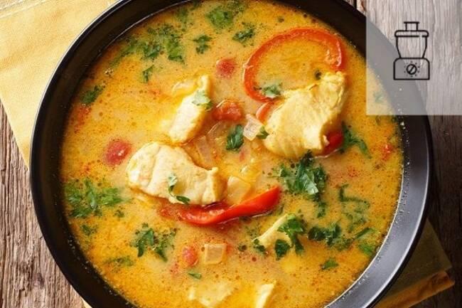 Recette Filet de cabillaud a la creme et au curry riz