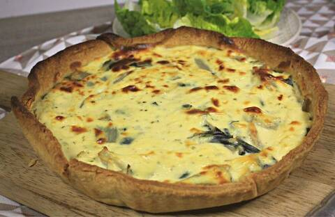 Recette Tarte gourmande aux blettes et fromage frais aux fines herbes