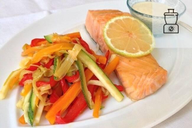 Recette Paves de saumon sirop d erable legumes