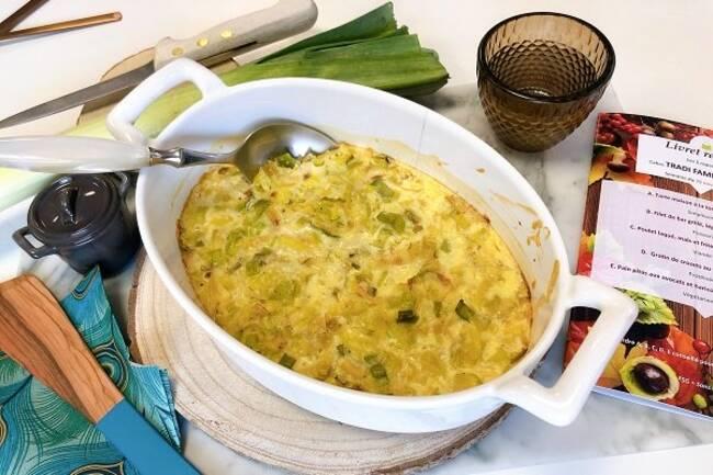 Recette Poireaux gratines au Cantal oeuf cocottes