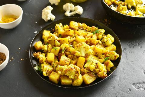 Recette de Curry de chou fleur et de pommes de terre (SG)