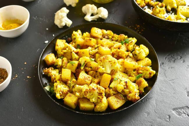 Recette Curry de chou fleur et de pommes de terre (SG)