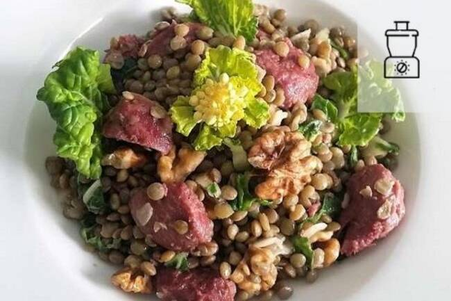 Recette Salade de lentilles au confit de canard