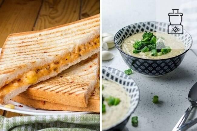 Recette Velouté de brocolis, grilled cheese