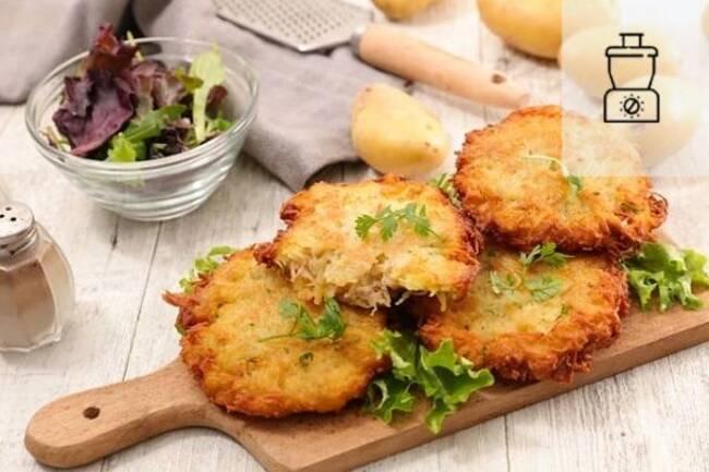 Recette Galettes croustillantes au lieu et salade