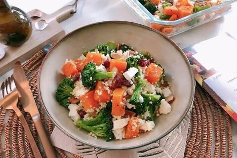 Recette de Bowl veggie couscous, légumes et fruits secs