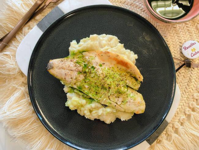 Recette Filet de daurade, mousseline de légumes (SG)