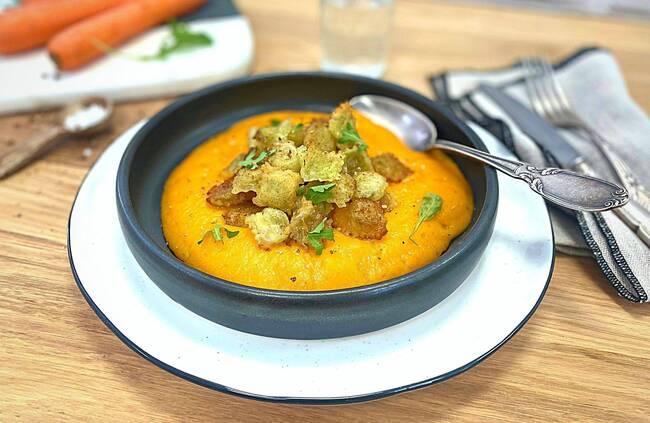 Recette Ravioles poêlées, mousseline de carottes
