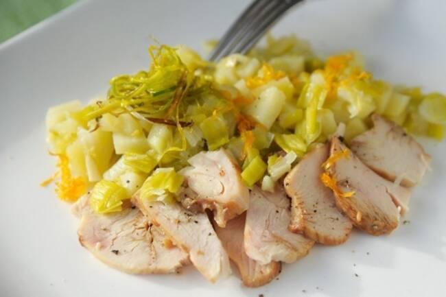 Recette Emincé de porc aux poireaux et au sésame (SG)