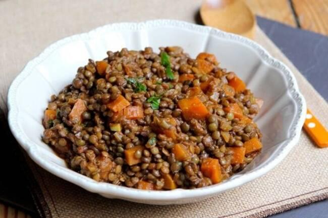 Recette Lentilles aux legumes et au cumin (SG)