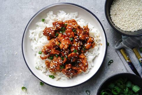 Recette de Porc laqué au Carambar, riz (SG)