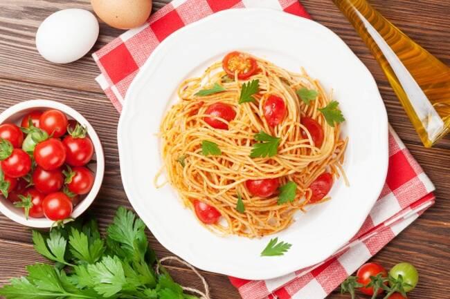 Recette One pot pasta (spaghetti, tomates, basilic)