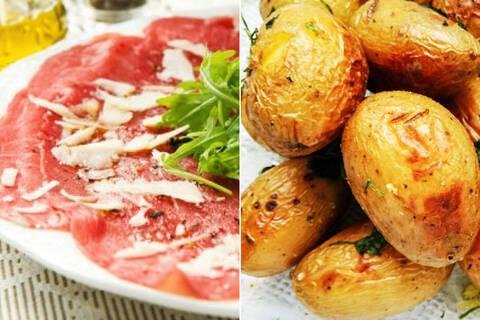 Recette de Carpaccio de bœuf parmesan basilic Pommes de