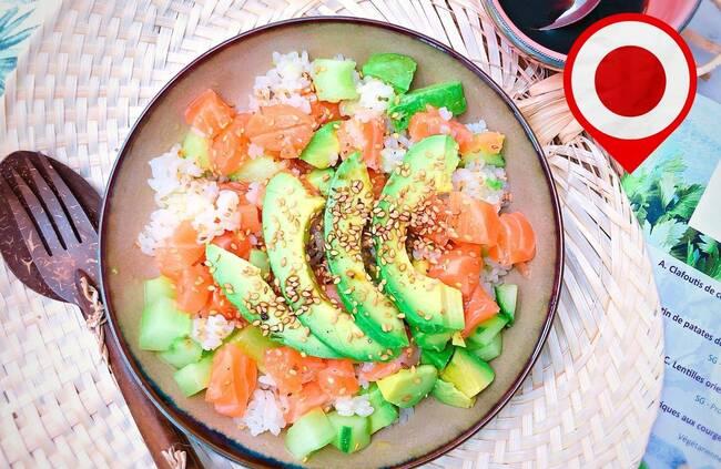 Recette Sushi bowl de saumon aux avocats (ou chirashi