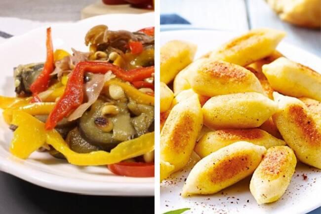 Recette Poivrons et aubergines - Gnocchis poêlé