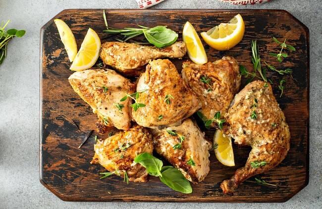 Recette Poulet grillé au thym citron, ratatouille