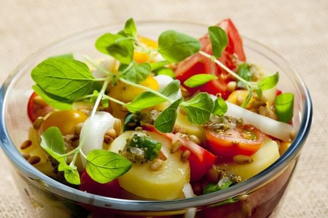 Recette Salade de pommes de terre, mozzarella di Bufa